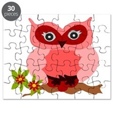 Cute Girly Owl Puzzle