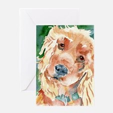 Golden Cocker Spaniel - Greeting Card
