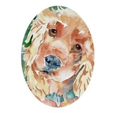 Golden Cocker Spaniel - Oval Ornament