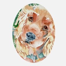 Golden Cocker Spaniel - Oval Ornament