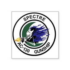"AC-130 Spectre Gunship Square Sticker 3"" x 3"""