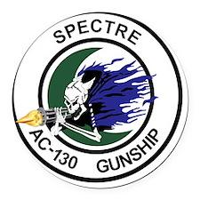 AC-130 Spectre Gunship Round Car Magnet