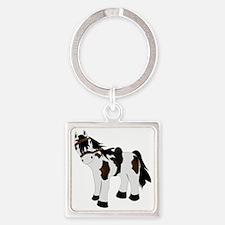 Paint Pony Square Keychain