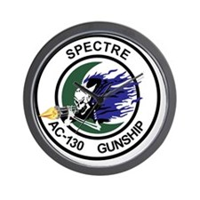 AC-130 Spectre Gunship Wall Clock