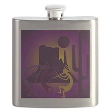 Kokopellis in the Southwest Purple Flask