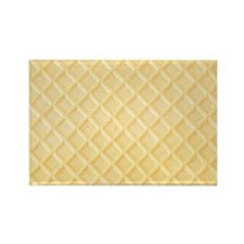 Vanilla Waffle Cookie Rectangle Magnet