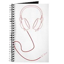 Headphones Outline in Red v1 Journal