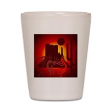 Kokopellis in the Southwest Red Shot Glass