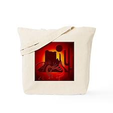 Kokopellis in the Southwest Red Tote Bag