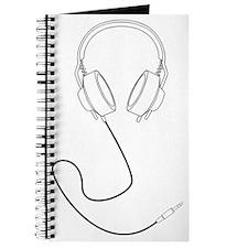 Headphones Outline in Black v1 Journal