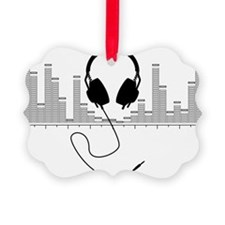 Headphones with Audio Bar Graph i Ornament