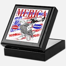 Merica Eagle and Cowboy Keepsake Box