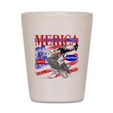 Merica Eagle and Cowboy Shot Glass