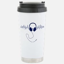 Headphones with Soundwa Stainless Steel Travel Mug