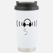 Headphones with Loud Mu Stainless Steel Travel Mug