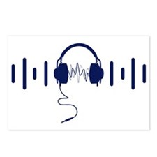 Headphones with Audio Bar Postcards (Package of 8)