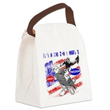 Merica Eagle and Cowboy Canvas Lunch Bag