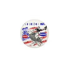 Merica Eagle and Cowboy Mini Button