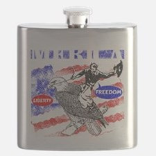 Merica Eagle and Cowboy Flask