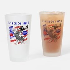 Merica Eagle and Cowboy Drinking Glass