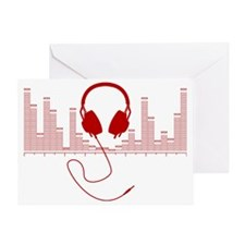 Headphones with Audio Bar Graph in R Greeting Card