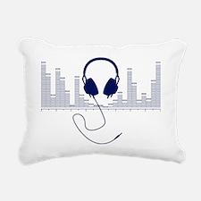 Headphones with Audio Ba Rectangular Canvas Pillow