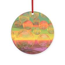 Autumn Rumin King Duvet-8064wx6912h Round Ornament