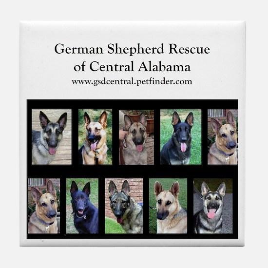 Cute German shepherd rescue of central alabama Tile Coaster