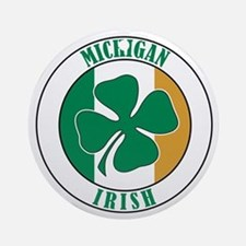 Michigan Irish Ornament (Round)