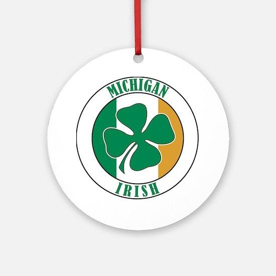 Michigan Irish Ornament (Round)