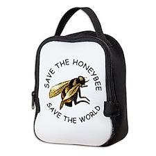 Save The Bee Neoprene Lunch Bag