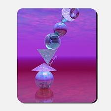 Balancing, Violet, Lavender, Blue, Magen Mousepad