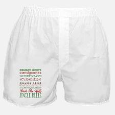 Christmas Subway Art Boxer Shorts