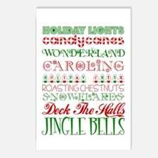 Christmas Subway Art Postcards (Package of 8)