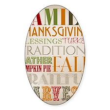 Happy Thanksgiving Subway Art Decal