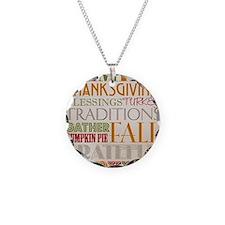 Happy Thanksgiving Subway Ar Necklace