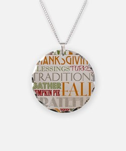 Happy Thanksgiving Subway Ar Necklace