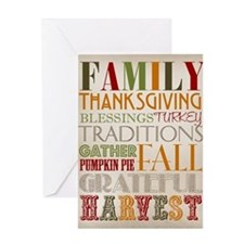 Happy Thanksgiving Subway Art Greeting Card