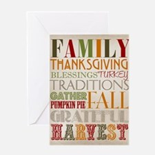 Happy Thanksgiving Subway Art Greeting Card