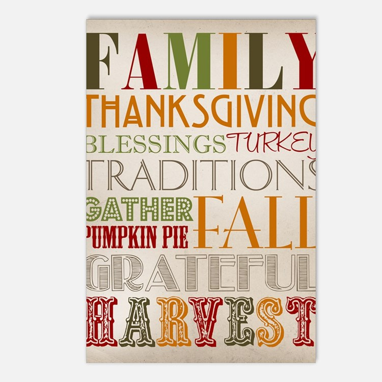 Happy Thanksgiving Subway Postcards (Package of 8)
