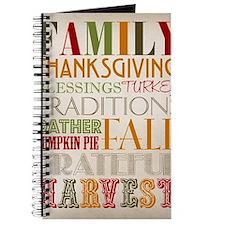 Happy Thanksgiving Subway Art Journal