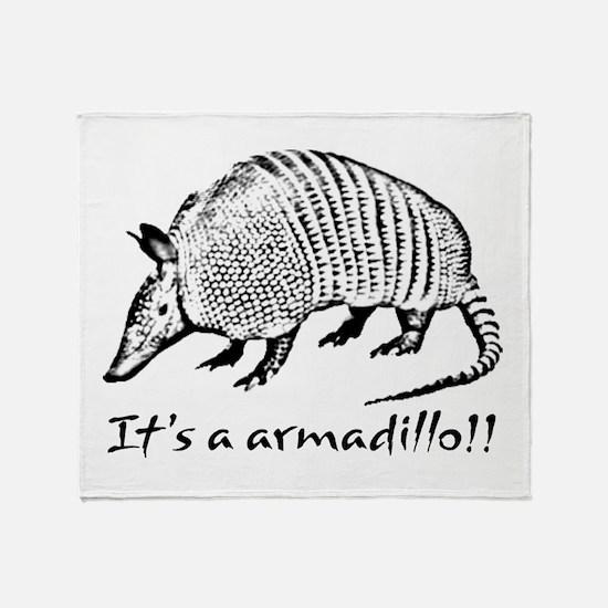 2-Armadillo_dark.psd Throw Blanket