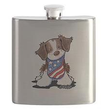 Patriotic Brittany Flask