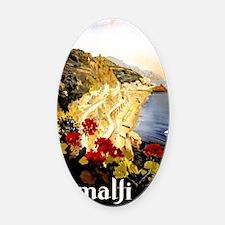 Antique Italy Amalfi Coast Travel  Oval Car Magnet