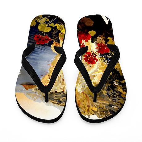 Antique Italy Amalfi Coast Travel Poste Flip Flops