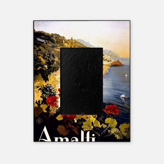 Antique Italy Amalfi Coast Travel Po Picture Frame