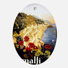 Antique Italy Amalfi Coast Travel Po Oval Ornament