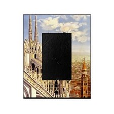 Antique Italy Milan Cathedral Travel Picture Frame
