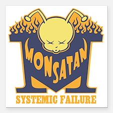 "monsatan-bee-T Square Car Magnet 3"" x 3"""