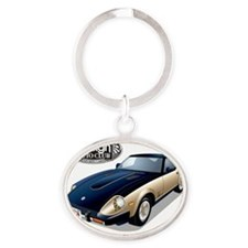 Japanese 280ZX Anniversary-FAC Oval Keychain